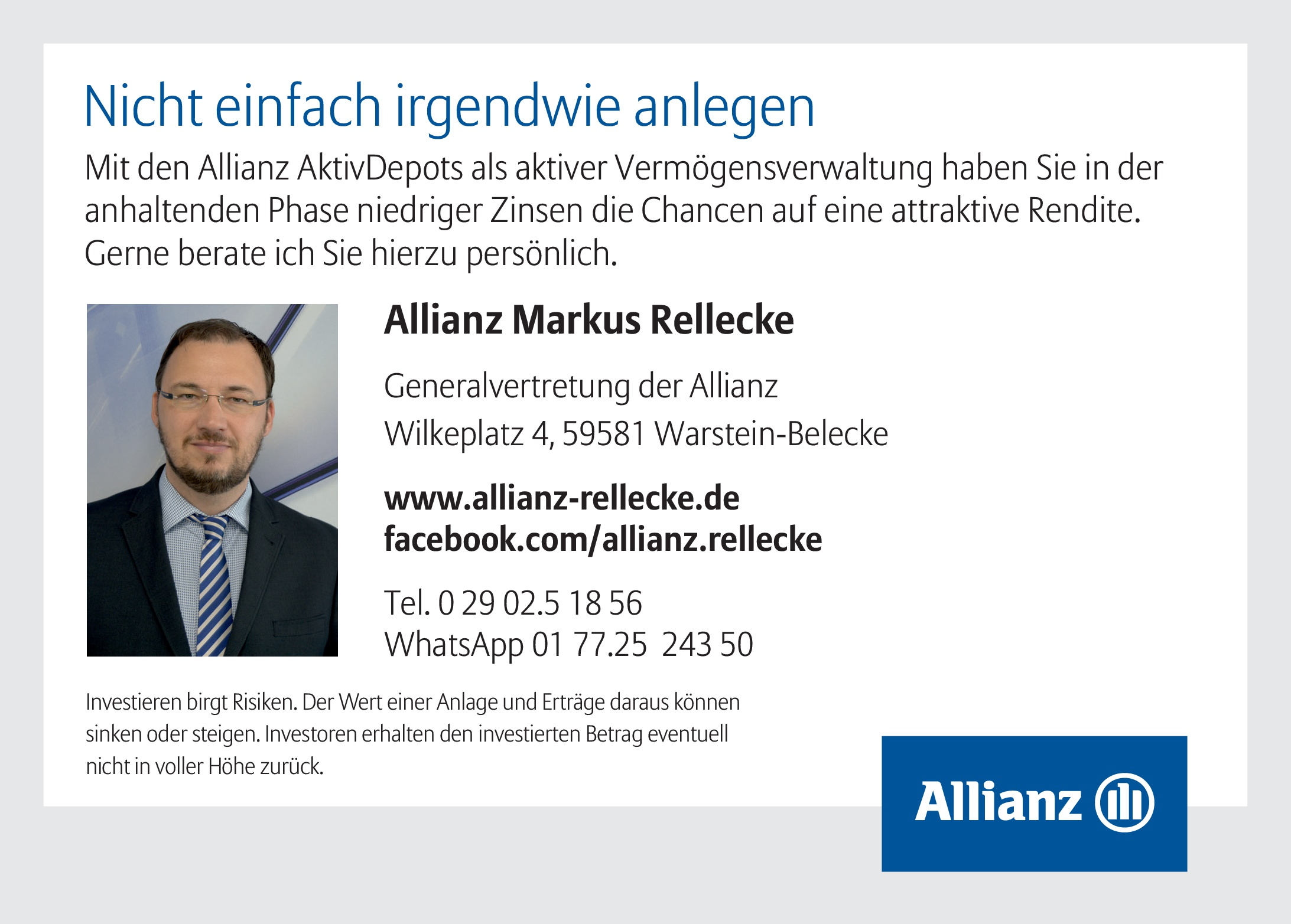 Anzeige Allianz Rellecke 2020