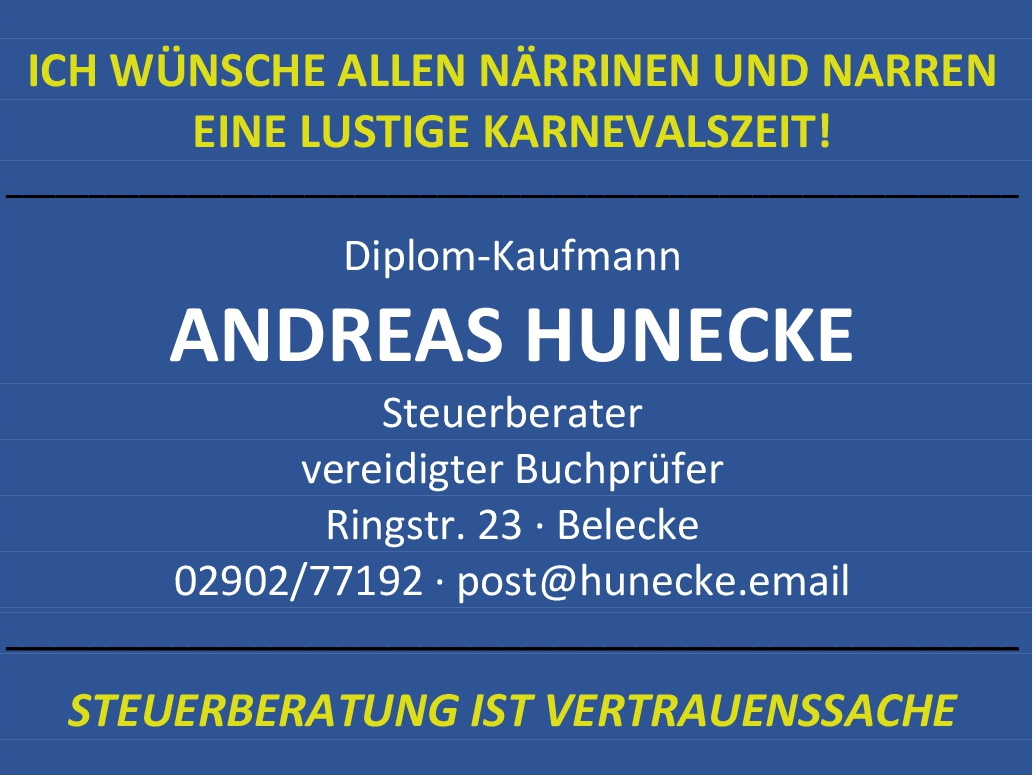 Anzeige Steuerberater Andreas Hunecke 2020
